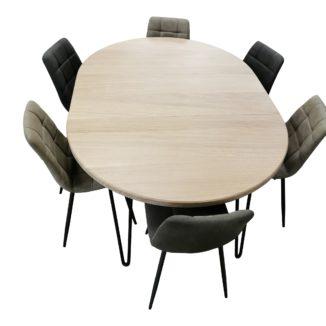 Matbord runt – ek med iläggsskivor – Ø 90–230 cm - 1