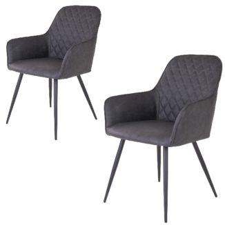 Harbo matbordsstol – grå – 2 st. - 2