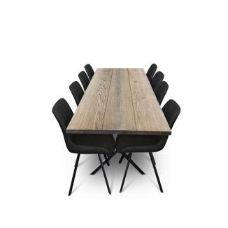 Plankbord ek – tre plankor – olja ebenholts (1)