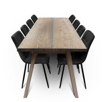 Plankbord ek – två plankor – ebenholz olja - träben
