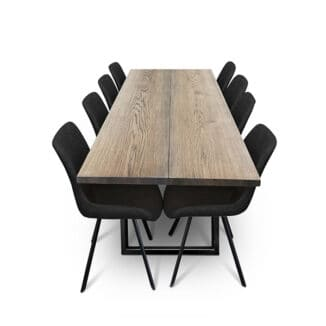 Plankbord ek – två plankor – olja ebenholts