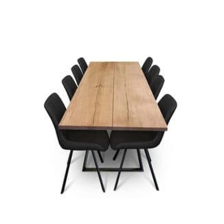 Plankbord ek – två plankor – olja valnot