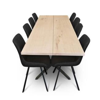 Plankbord ek – två plankor – olja vit