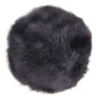 Nya zeeländsk lammskinnsdyna – grå – rund