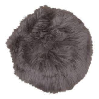Nya zeeländsk lammskinnsdyna – mushroom – rund