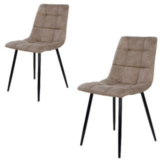 Middelfart matbordsstol – ljusbrun – svart – 2 st. - 1