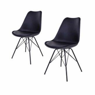 2 st. Oslo matbordsstol – svart - 1