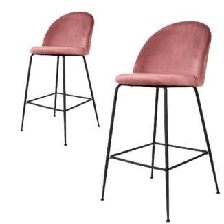 Barstol – Lausanne – rosa/svart – 2 st.