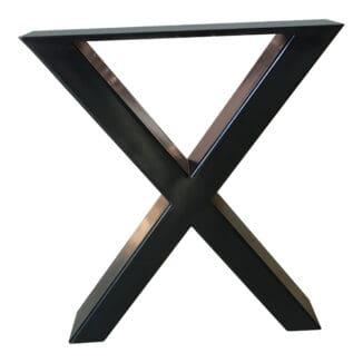 Ben till bänk, kryssformat underrede – svart metall