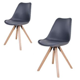 Bergen matbordsstol – grå – 2 st.
