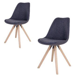 Bergen matbordsstol – mörkgrå – stoppad – 2 st. - Bord