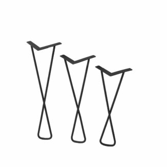 Bordsben – Hairpin Cross – 51 cm – 45 cm – 39 cm – svart - Bord