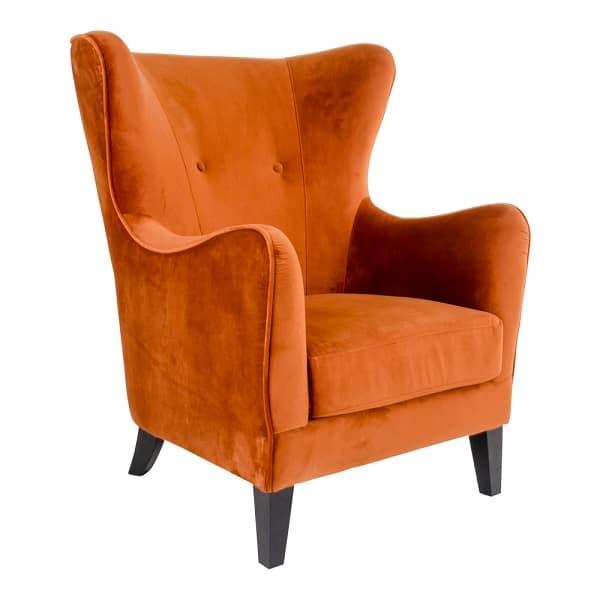 carmen lænestol orange velour