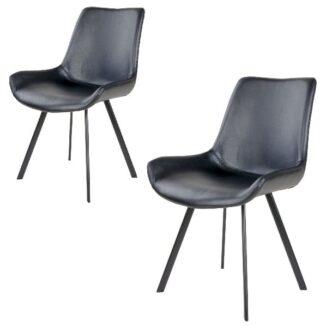 Drammen matbordsstol – svart – svart – 2 st.
