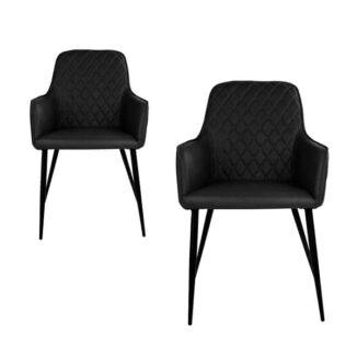 Harbo matbordsstol – svart – 2 st. - Stol