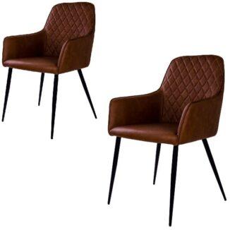 Harbo matbordsstol – vintagebrun – 2 st. - Bord