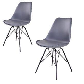 Oslo matbordsstol – grå – 2 st. - 1