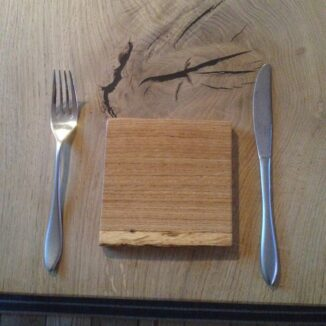 Smörgåsbricka 12,5 x 12,5 cm. - Ek