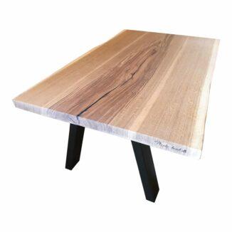 Soffbord – ek – en planka – olja vit