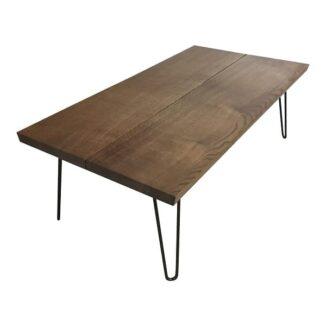Soffbord – ek – två plankor – olja ebenholts - 2