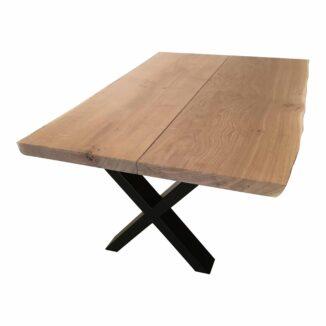 Soffbord – ek – två plankor – olja vit