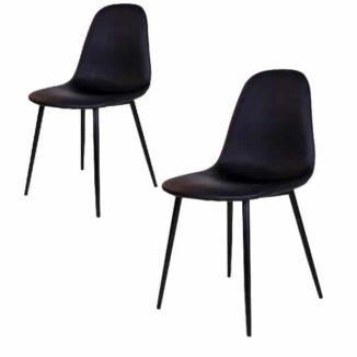 Stockholm matbordsstol – svart – svart – 2 st.