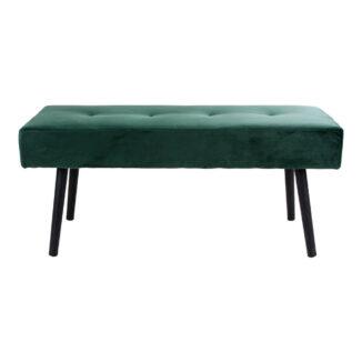 Stoppad bänk – Skiby - grön – velour