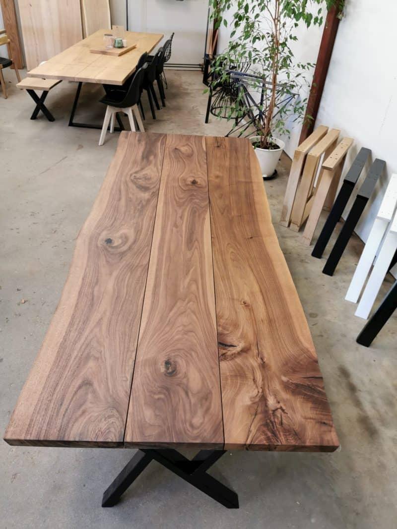 Plankebord amerikansk valnød 3 planker 100 x 250 cm