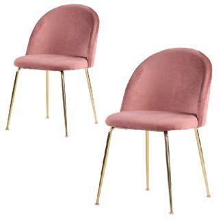 Geneve matbordsstol – rosa/svart – 2 st - Stol - 1