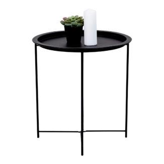 Bastia soffbord – svart – Ø 46,8 cm
