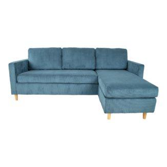 Sofa - Toscana - Blå - Fløjl