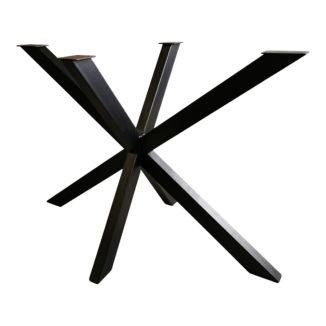 Bordsunderrede – stjärnformat underrede – svart - 60 x 105 cm - 2