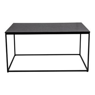 Soffbord – Vita – svart – stål