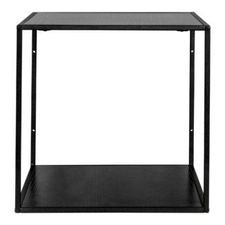 Hylla – Vita – svart – stål(1)