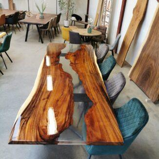Plankbord – Amerikasnk valnöt med epoxi – 95 x 280 cm(1)