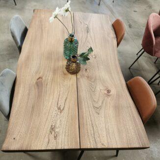 Plankbord i alm med ebenholtsolja 90 × 150 cm (1)