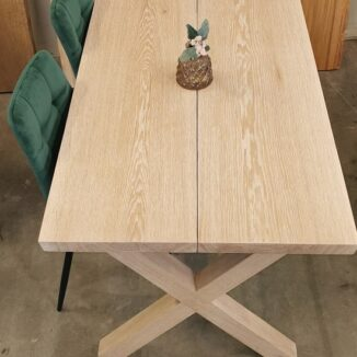 Plankbord – Ek - Vit olja - Kryss i ek - 80 x 140 cm