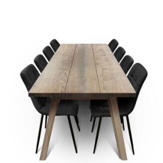 Plankbord ek – tre plankor – ebenholz olja - träben