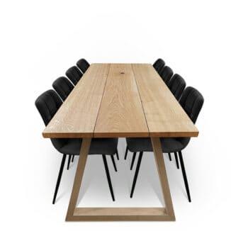 Plankbord ek – tre plankor – naturlig olja – träben(1)