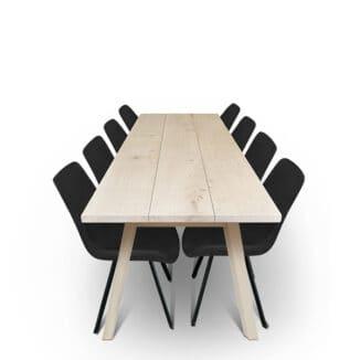 Plankbord ek – tre plankor – olja vit - träben