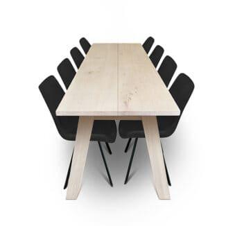 Plankbord ek – två plankor – olja vit - träben