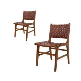Perugia matbordsstol - brun - 2 st.