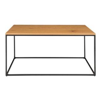 Soffbord – Vita – ek look – stål