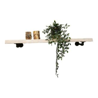 Hylla – Ek - Vit olja – 4 cm - Rör - Hylde