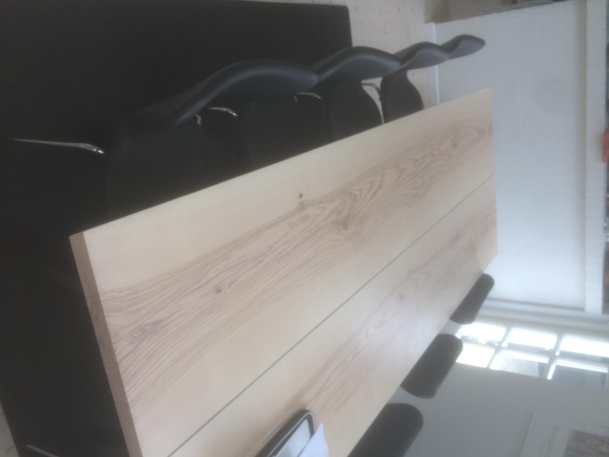 plankebord ask hvid olie 44